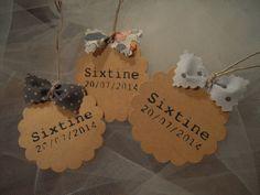 étiquettes kraft personnalisées noeuds tissu : Autres papeterie par 3-petits-sacs