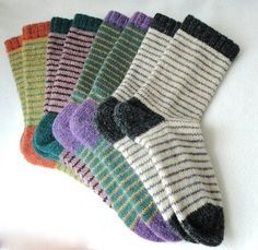 KNITTING PATTERN / Bywater Adult/Teen Socks / knit sock pattern / striped sock pattern / Striped Adult Socks / Women socks / Men socks - Lilly is Love Knitting Blogs, Knitting For Beginners, Knitting Socks, Knitting Patterns, Knitting Tutorials, Knitting Machine, Free Knitting, Stitch Patterns, Stockings