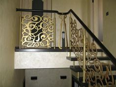 BuildDirect Africa - Laser Cutting and CNC Routing Metal Stair Railing, Staircase Railings, Banisters, Staircases, Home Stairs Design, Balcony Railing Design, Laser Cut Aluminum, Building An Addition, Exterior Cladding