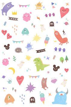 New wallpaper pattern simple Ideas Pastel Wallpaper, Wallpaper Iphone Cute, New Wallpaper, Cute Wallpapers, Wallpaper Backgrounds, Kawaii Drawings, Cute Drawings, Cute Doodles, Cute Icons