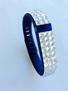 Fitbit Flex band with white rhinestones by FitBlingDivas on Etsy, $30.00