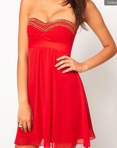 de oro de la corte babydoll sexy vestido rojo-Varios ...