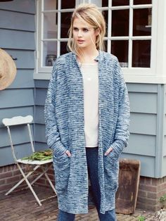 slouchy cardigan and casual pants from burdastyle...I like this collection