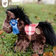 Limited Red Plaid Brown - Piccoli Horses for Early Supporters  Piccoli Horses are plush toys loved by kids of all ages. It serves as a tangible learning facilitator for your child when paired with our Piccoli apps!  #toy #children #kids #cuddly #cute #plushtoy #horse #piccoli #piccolihorses #usa #kentucky #tech #education