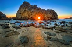 The 16 Best Places In The World To Watch The Sunset! in - Travel - Hand Luggage Only; Pfeiffer Beach USA