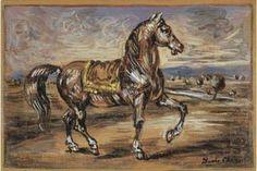 Cheval dans un paysage - (Giorgio De Chirico)