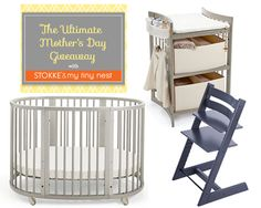Enter to win three nursery furniture pieces from Stokke and a virtual design package from NYC Nursery Designers My Tiny Nest.