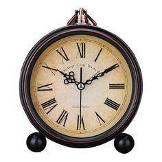 Good Quality Vintage Alarm Clock Antique Study Room Desk Table Clock