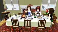 [MMD] Holiday Dinner Stage DL by OniMau619