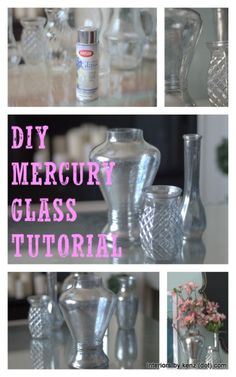 DIY Mercury Glass Tutorial with pictures. Do you think mom would like mercury glass? If so, we could find inexpensive glass containers and DIY mercury glass paint them. 2014 new style online, up to off Diy Projects To Try, Crafts To Do, Craft Projects, Craft Ideas, Craft Decorations, Altered Bottles, Bottles And Jars, Mercury Glass, Dollar Stores