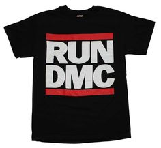 Officially licensed RUN DMC t-shirt featuring the timeless RUN DMC logo. Each 100% cotton t-shirt is a standard fit men's t-shirt. Black.