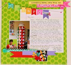 happy colors layout by @Stacy Julian contributor to Scrap Chic