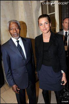 friends of charlotte casiraghi   Kofi Annan con Charlotte Casiraghi - charlotte_casi - Fotolog