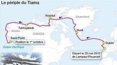 4 navigateurs de Lampaul-Plouarzel (29) ont réussi l'exploit de rallier l'Atlantique au Pacifique en navigant dans le Grand Nord canadien, par le fameux passage du Nord-Ouest.