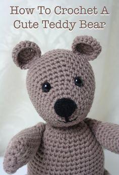 Free Crochet Teddy Bear Pattern - Lucy Kate Crochet