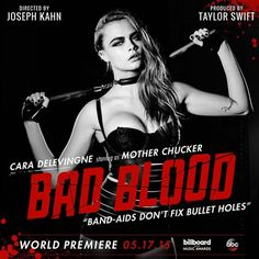 Cara Delevingne - Taylor Swift's famous friends star in Bad Blood video | Harper's Bazaar