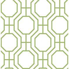 2704-21846 - Circuit Green Modern Ironwork Wallpaper - by Brewster
