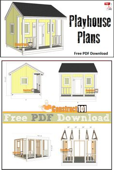 Playhouse plans - free PDF download, material list, and step-by-step instructions.