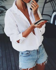 10 zomer essentials voor in je kledingkast not sure what to wear today here are 12 outfits stylish girls always turn to Street Style Outfits, Casual Outfits, Night Outfits, Ladies Outfits, Casual Street Style, Outfit Pinterest, Outfits Con Camisa, Simple Summer Outfits, Casual Summer