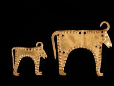 Gold appliqué, more than six millennia old, appears to be a bull but has buffalo-like horns.  - Mystery of the Varna Gold: What Caused These Ancient Societies to Disappear?