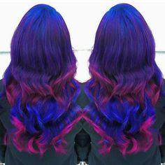 Blue purple pink
