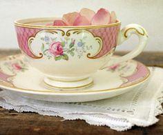 Vintage pink teacup