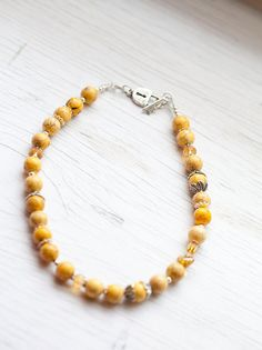 Yellow Marble Necklace