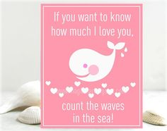 Baby girl nursery decor children's wall art by MagicMarkingsArt Whale Nursery, Baby Girl Nursery Decor, Nautical Nursery, Nursery Ideas, Sea Nursery, Mermaid Nursery, Room Baby, Boy Room, My Baby Girl