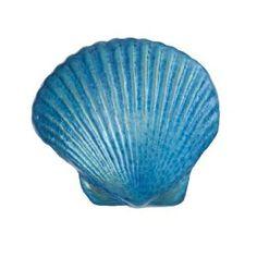 "Robert Held Art Glass - Paperweight, Seashell Turkish Blue - 2.25 X 2"" #ocean #beach #turquoise $40"