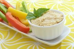 Hummus Veggies: This is my favorite snack. The hummus is made from chickpeas, which is rich in protein and fiber. It's low fat and filling. Perfection