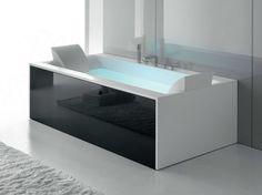 Bañera de hidromasaje de Corian® SENSUAL 190 x 100