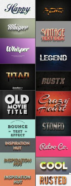 Amazing Free Photoshop Text Effects & Styles to create stunning texts