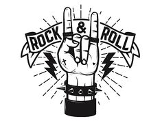 Rock and roll sign. Human hand with heavy metal sign. Rock and roll poster template. Rock And Roll Tattoo, Tatouage Rock And Roll, Rock And Roll Sign, Rock Sign, Rock Tattoo, Metal Drawing, Drawing Rocks, Digital Foto, Metal Horns