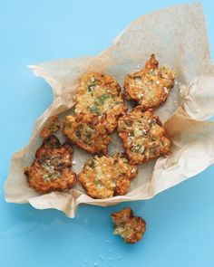 okra fritters (use coconut milk and oven bake)