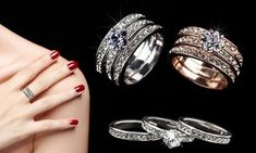 O Portal, Swarovski, Wedding Rings, Engagement Rings, Facebook, Jewelry, Crystals, Classy Nails, Rings