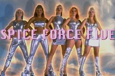 The Spice Girls! Best band ever! I love the Spice Girls when I was young! Spice Girls, Shakira, Mtv, Cyberpunk, Nostalgia, 90s Aesthetic, Fifth Harmony, 90s Kids, Girl Gang