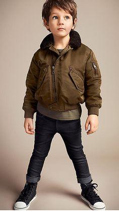 Shearling Collar Flight Jacket | Burberry
