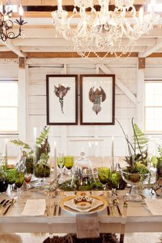 Bringing the outdoors in with a beautiful green colour scheme and natural table decor