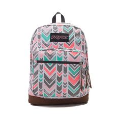 <p>Unzip your school savvy style with the new Right Pack Expressions Chevron Backpack from JanSport! The Right Pack Expressions backpack features vibrant chevron prints, signature suede leather bottom, internal laptop sleeve, and front organizer pocket. <b>Only available at Journeys!</b></p>  <p><u>Details</u>:</p> <ul> <li> Zippered front stash pocket</li> <li> Internal padded sleeve provides pro...