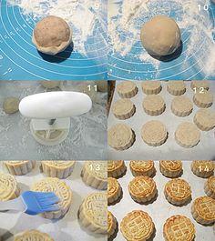 芋蓉广式月饼 Cantonese-style Mooncake with Taro filling