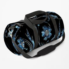 Pear, Clutches, Gym Bag, Printed, Awesome, Floral, Pattern, Blue, Stuff To Buy
