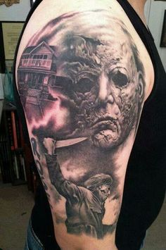 Tattoos on pinterest horror tattoos horror and tattoos for Michael myers tattoo