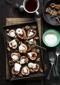 Baked Figs With Rosewater Honeyed Yoghurt & Candied WalnutsTanya Zouev Photography | Tanya Zouev Photography