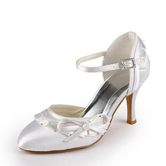Satin Stiletto Pumps With Bow For Wedding (More Colors) – USD $ 59.99. In blue.