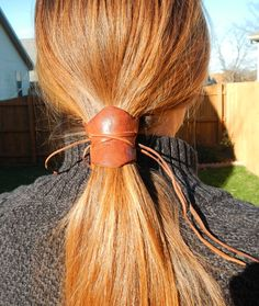 Real Reindeer Leather Hair Tie by Gentrycents on Etsy