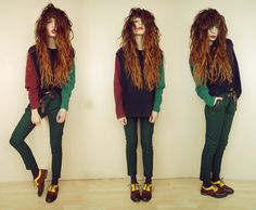 Love the shoes! ~ Colourfull in a different way (by Nadia Esra) http://lookbook.nu/look/4142872-colourfull-in-a-different-way