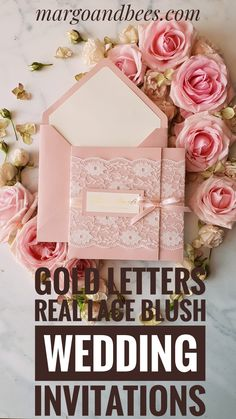 Wedding invitations online glam metallic finish stationery vintage lace wedding invitations with gold lettering and blush pink envelope Our Chic wedding invitations are completely. Wedding Invitations Canada, Bespoke Wedding Invitations, Handmade Invitations, Vintage Wedding Invitations, Wedding Invitation Cards, Wedding Stationery, Wedding Cards, Our Wedding, Chic Wedding