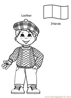 free printable coloring page Kids From Around The World 011 (Cartoons .