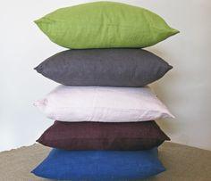 Washd linen, cushions