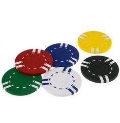 Goedkope basis pokerchips met een gewicht van 7,5 gram. Zeer goed te gebruiken voor Roulette of als pokerchips voor onderweg.